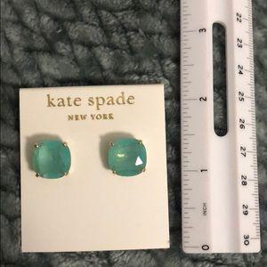NWT Kate Spade Teal/Gold Stud Earrings